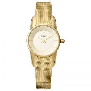 Obaku Ladies Gold Mesh Bracelet 'Siv' Watch, Gold V129LXGGMG
