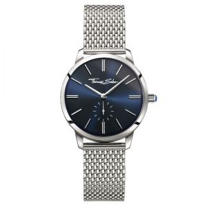 Thomas Sabo Women's Glam Spirit Watch, Silver Mesh and Royal Blue