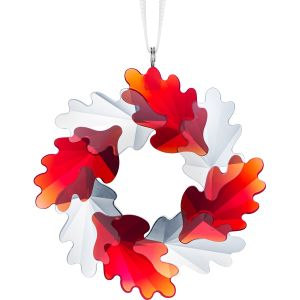 Swarovski Crystal Wreath Ornament, Leaves