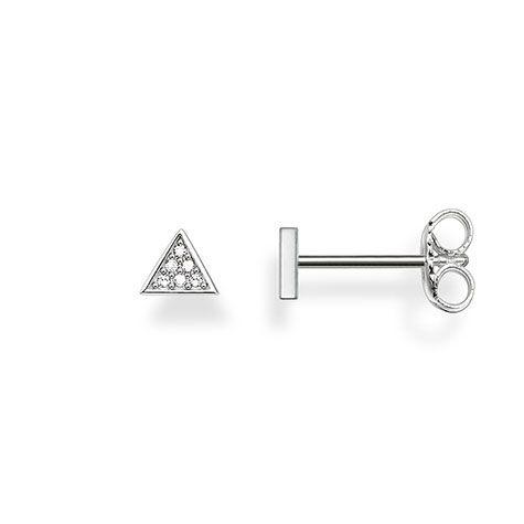 Thomas Sabo Triangle Diamond and Silver Ear Studs D_H0002-725-14
