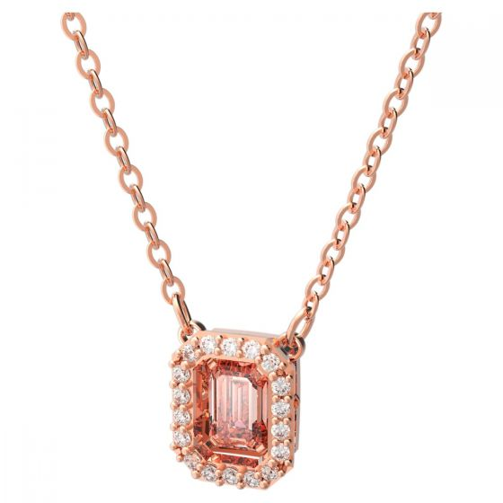 Swarovski Millenia Rose Gold Tone Plated Octagon Crystal Necklace 5614933