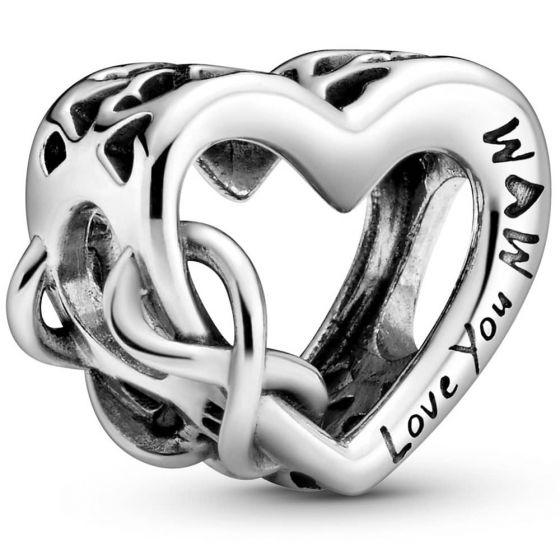 Pandora Love You Mum Infinity Heart Charm 798825C00