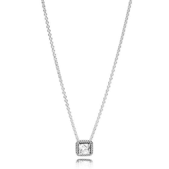Pandora Square Sparkle Halo Necklace 45cm 396241CZ-45