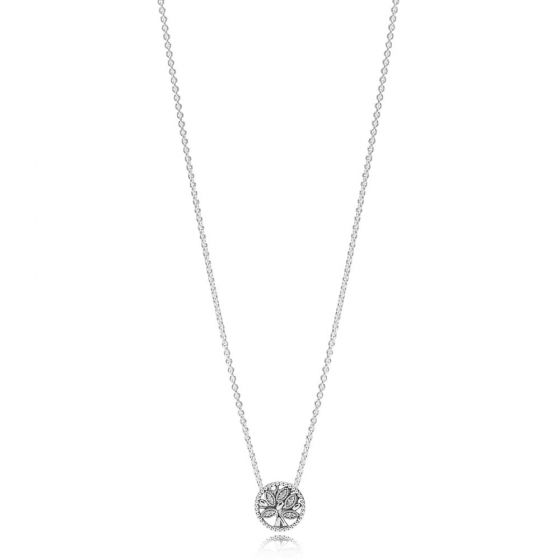 Pandora Sparkling Family Tree Necklace 397780CZ-45