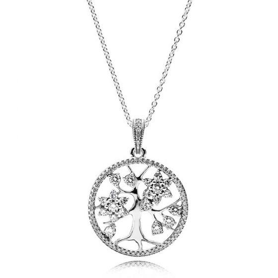 Pandora Sparkling Family Tree Necklace 80cm 390384CZ