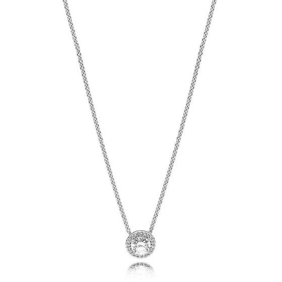 Pandora Round Sparkle Halo Necklace 45cm 396240CZ