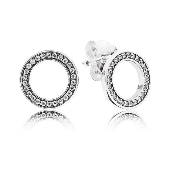Pandora Sparkling Circle Stud Earrings 290585CZ