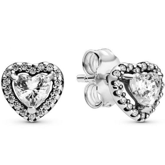 Pandora Elevated Heart Stud Earrings-298427c01
