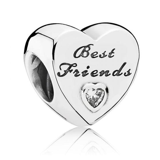Pandora Polished Best Friends Heart Charm 791727cz