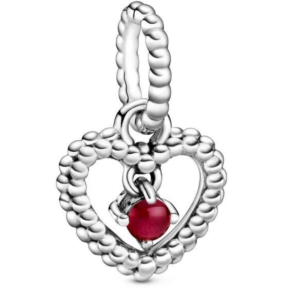 Pandora January Birthstone Heart Dangle Charm  798854C08