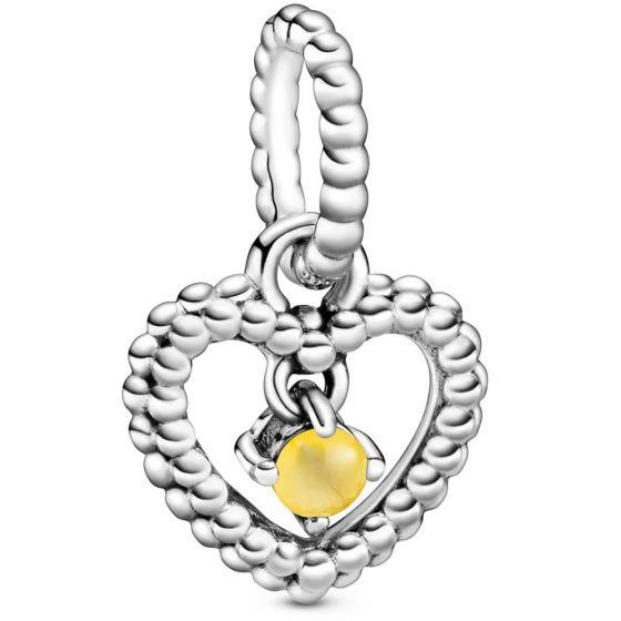 Pandora November Birthstone Heart Dangle Charm