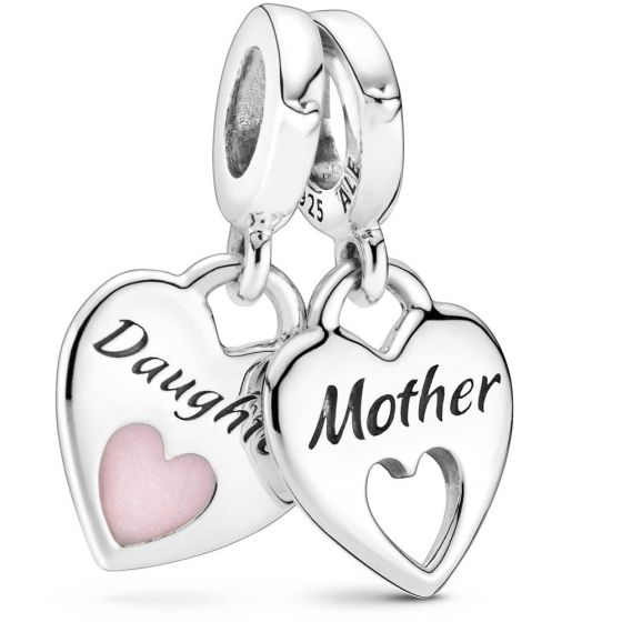 Pandora Double Heart Split Dangle Charm 799187C01