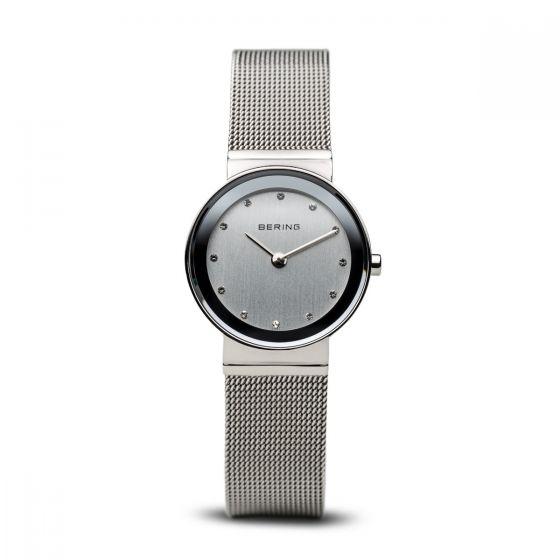 Bering Ladies Classic Polished Silver Watch - Medium 10126-000