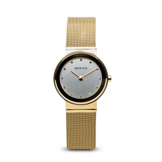 Bering Ladies Classic Polished Gold Watch - Medium