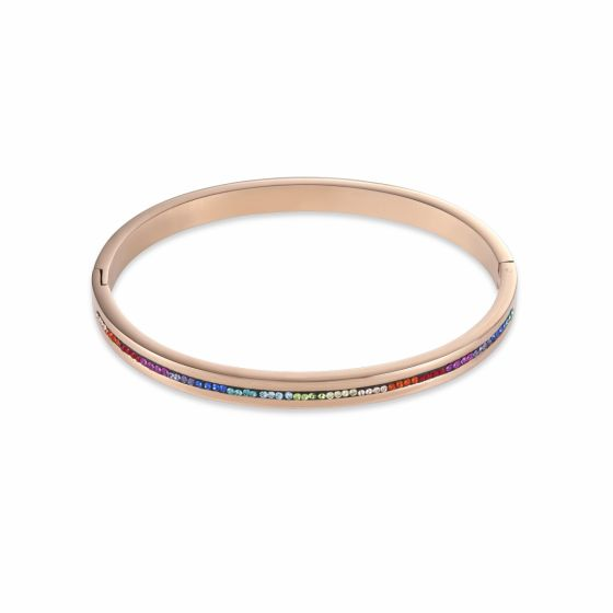 Coeur de Lion Crystals Pavé Multicolour and Rose Bangle 0226331500