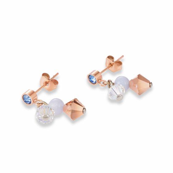Coeur de Lion Chalzedony Light Blue Earrings 4988210720