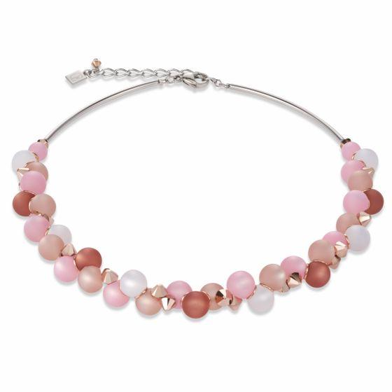Coeur de Lion Polaris and Swarovski Crystal Necklace Pink 4994/10-1910
