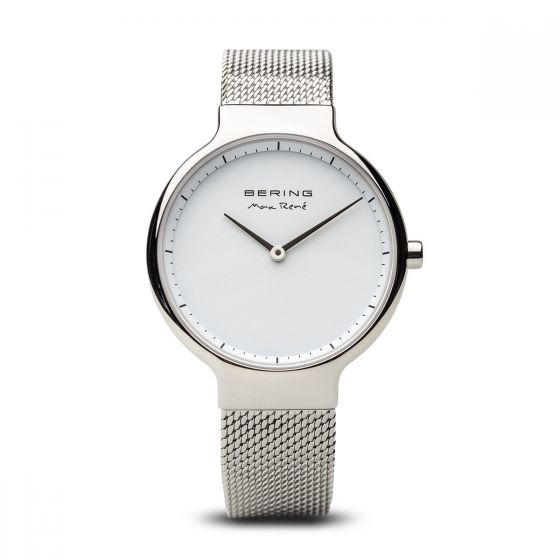 Bering Ladies 'Max René' Polished Silver Watch