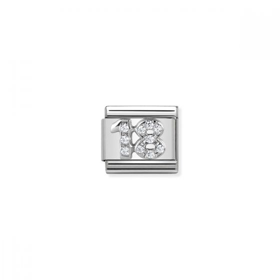 Nomination Silver and Zirconia 18 Charm 330304/18