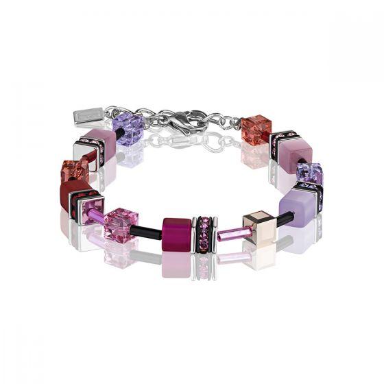 Coeur De Lion Mulitcolour Red Rose GEOCUBE Bracelet 2838300325