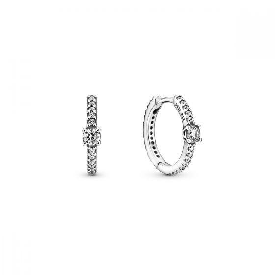 Pandora Sparkling Hoop Earrings 299406C01