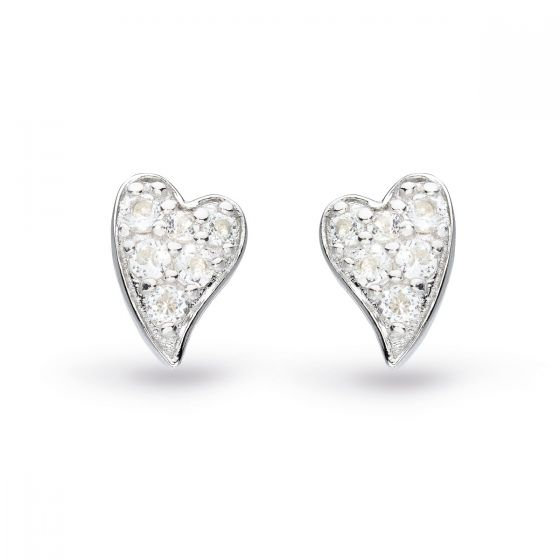 Kit Heath Desire Precious White Topaz Heart Stud Earrings  30505WT029