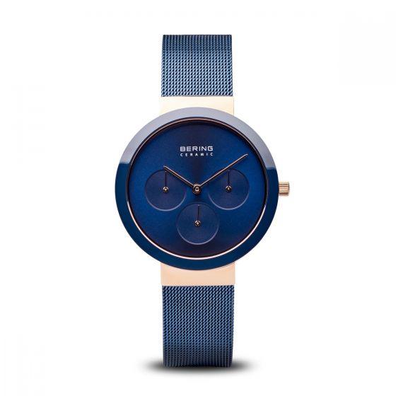 Bering Unisex Ceramic Polished Rose Gold Watch 35036-367
