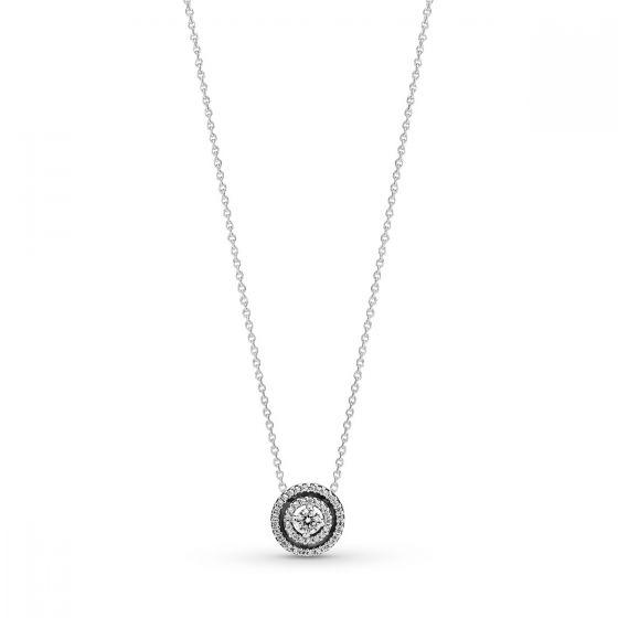 Pandora Sparkling Double Halo Collier Necklace 399414C01-45