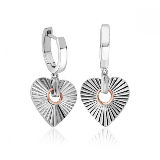 Clogau Silver Cariad Horizon Heart Earrings 3SCRH0149