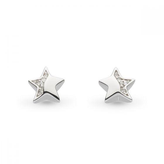 Kit Heath Miniature Sparkle CZ Shining Star Stud Earrings 40034CZ027