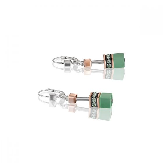 Coeur de Lion Geocube Earrings - Light Green - 4016200520