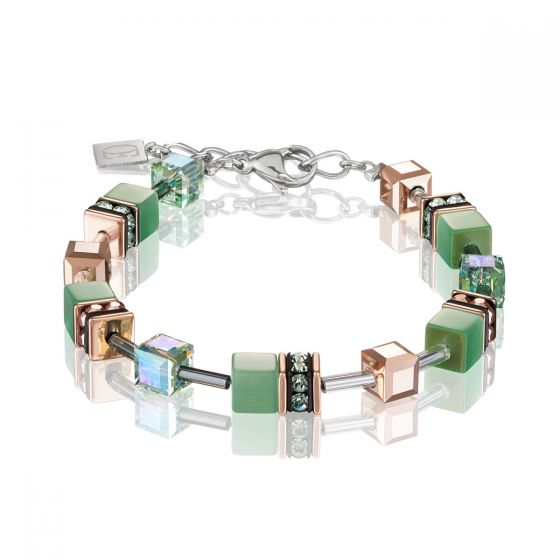 Coeur de Lion Geocube Bracelet - Light Green - 4016300520