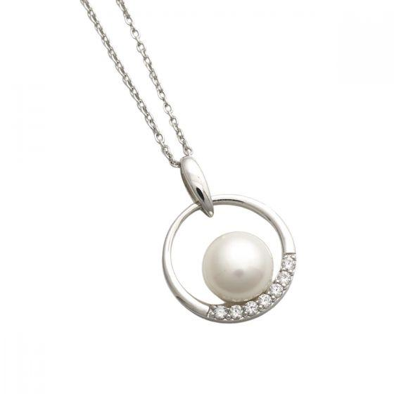Jersey Pearl Circle Freshwater Pearl Pendant