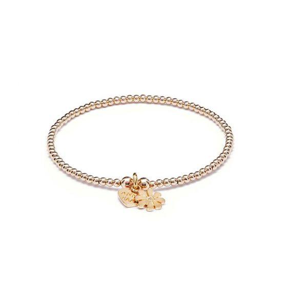 Annie Haak Santeenie Gold Charm Bracelet - Teeny Daisy