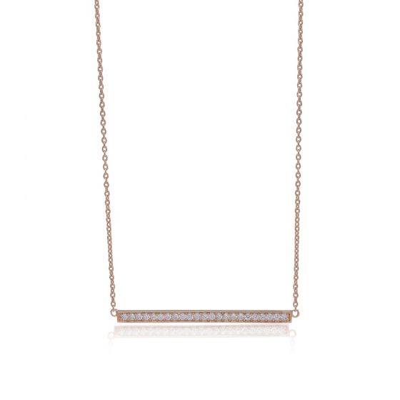 Sif Jakobs Simeri Grande Necklace - Rose Gold and Zirconia
