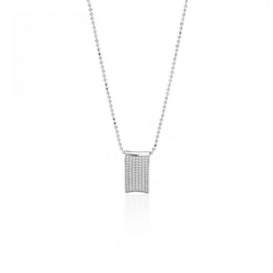 Sif Jakobs Dinami Pendant - Silver and White Zirconia