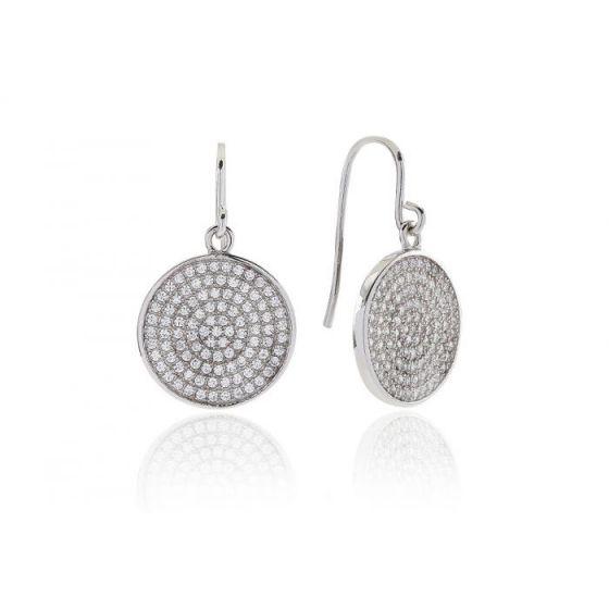 Sif Jakobs Este Drop Earrings - Silver with White Zirconia