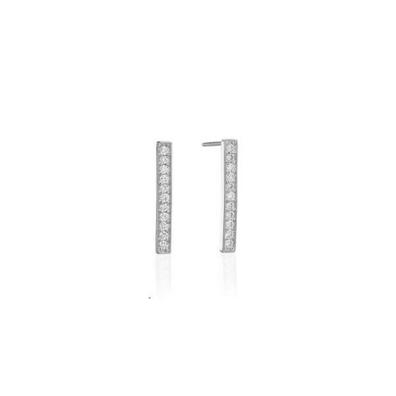 Sif Jakobs Simeri Piccolo Earrings - Silver with White Zirconia