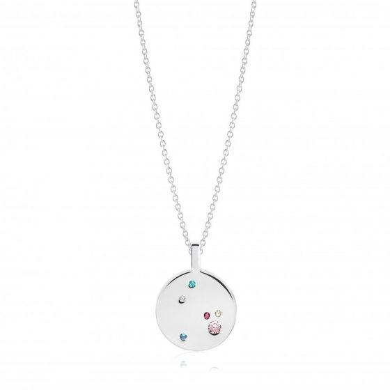 Sif Jakobs Valiano Pendant - Silver with Multicolour Zirconia / 45cm