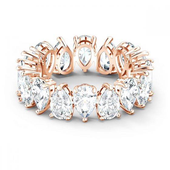 Swarovski Vittore Pear Ring - White with Rose Gold Plating