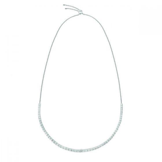 Calvin Klein Silver Tone Tune Slider Necklace