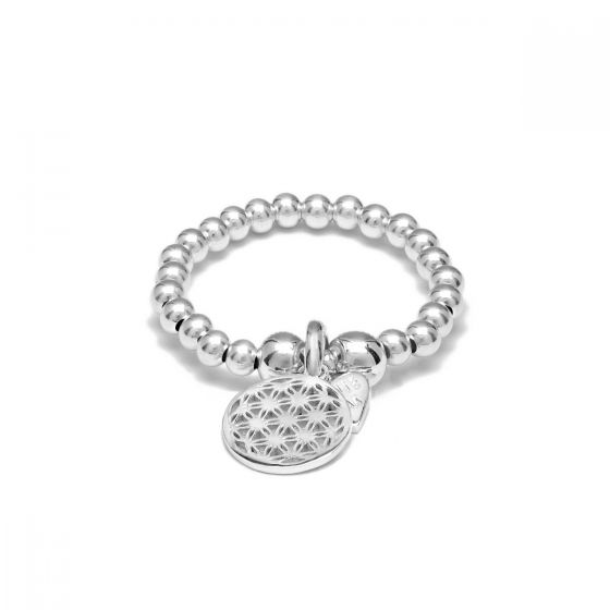 Annie Haak Santeenie Silver Charm Ring - Flower of Life