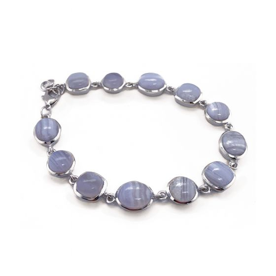 Sarah Alexander Morning Star Blue Lace Agate Bracelet