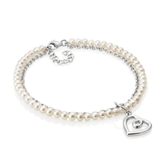 Jersey Pearl Kimberly Selwood Silver and Pearl Bracelet