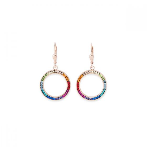 Coeur De Lion Rose Gold & Rainbow Pierced Earrings 4957201500