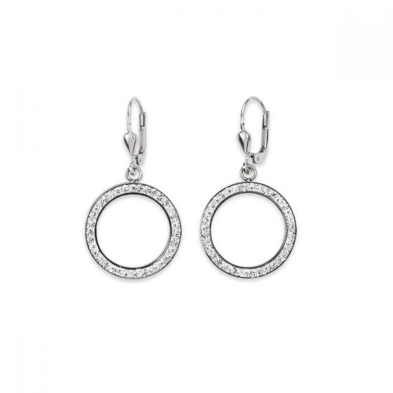 Coeur De Lion Silver Crystal Pierced Earrings 4957201718