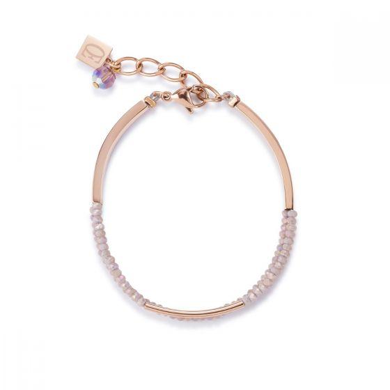 Coeur De Lion Rose Gold and Glass Bracelet  4960301022
