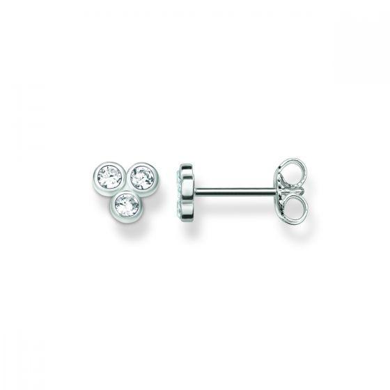 Thomas Sabo 3 Stone Zirconia Stud Earrings - 5-127-02-0192