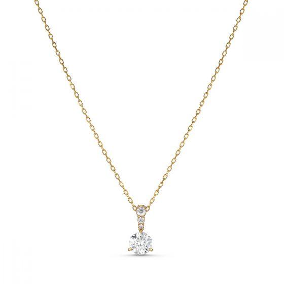 Swarovski Solitaire Pendant, White, Gold-Tone Plated 5511557