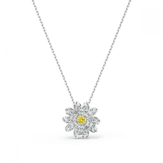 Swarovski Eternal Flower Pendant - Rhodium Plated - 5512662